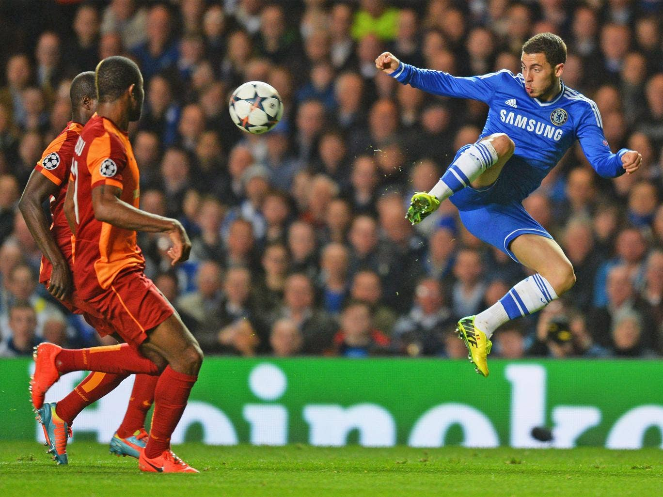 Eden Hazard was a standout player in Chelsea's 2-0 win over Galatasaray on Tuesday night