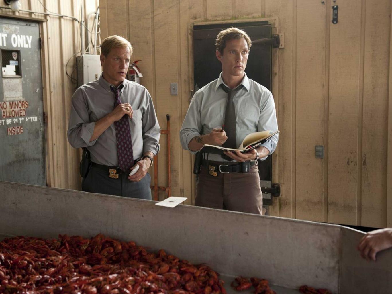 Woody Harrelson and Matthew McConaughey in True Detective