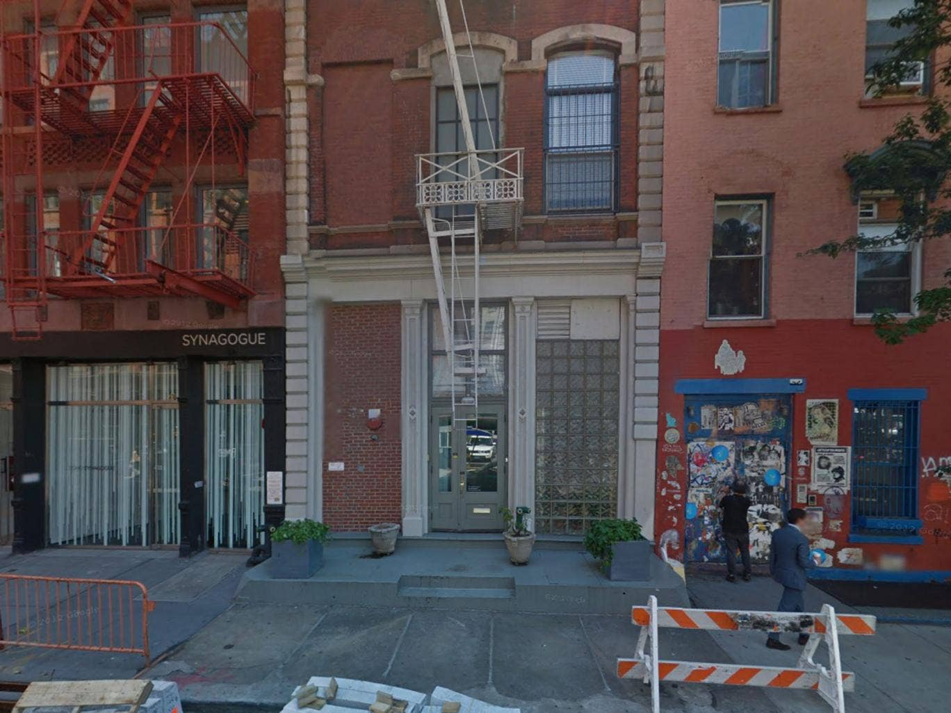 The incident happened in a building on SoHo's Crosby Street