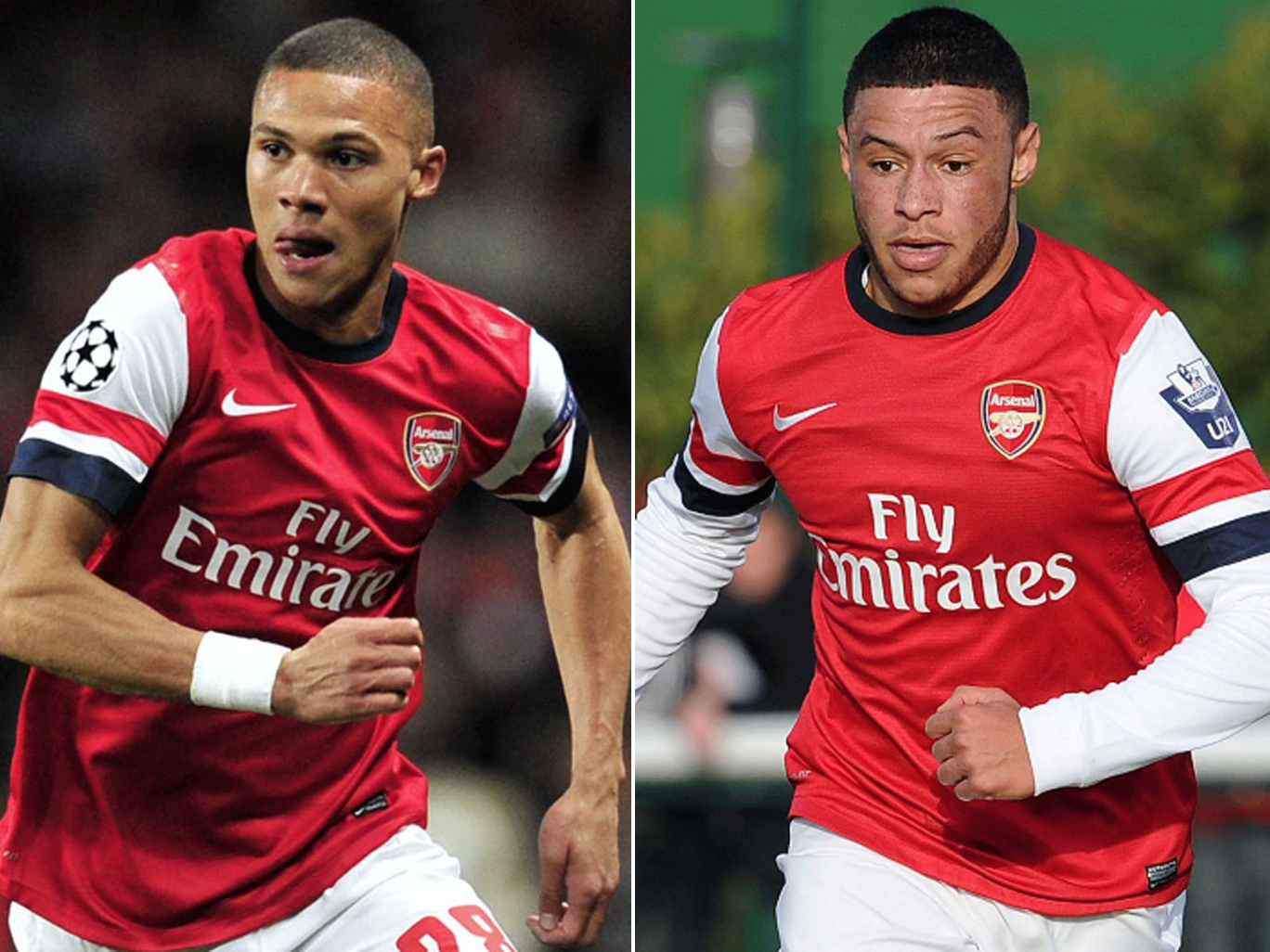 No ban for either Kieran Gibbs (left) or Alex Oxlade-Chamberlain over wrong red card