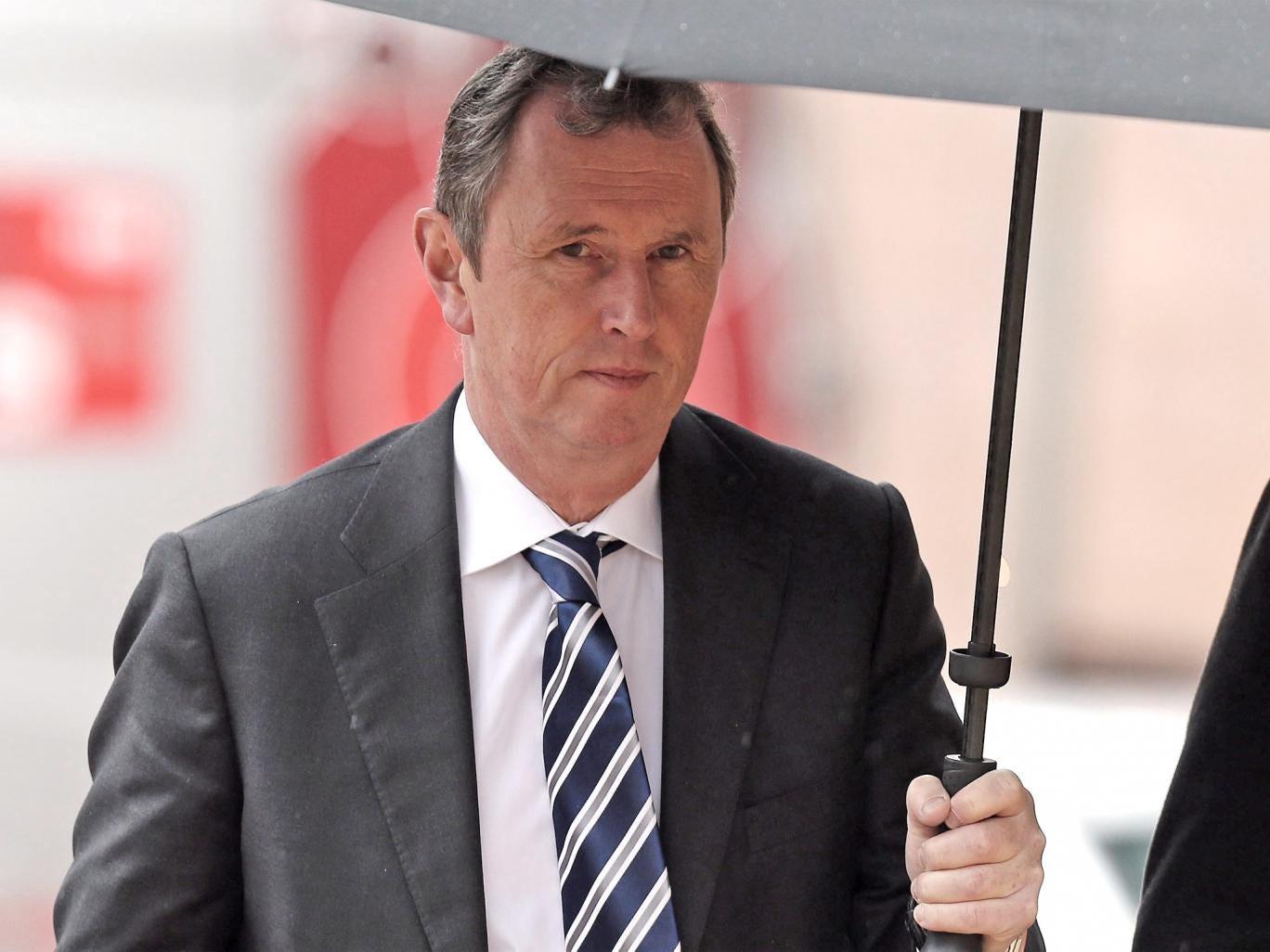 Former deputy speaker of the House of Commons Nigel Evans arrives at Preston Crown Court
