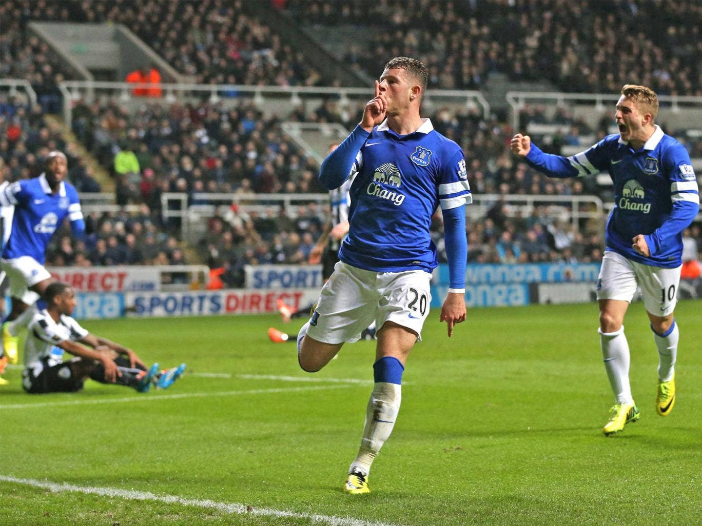 Ross Barkley silenced the Newcastle home fans after 22 minutes