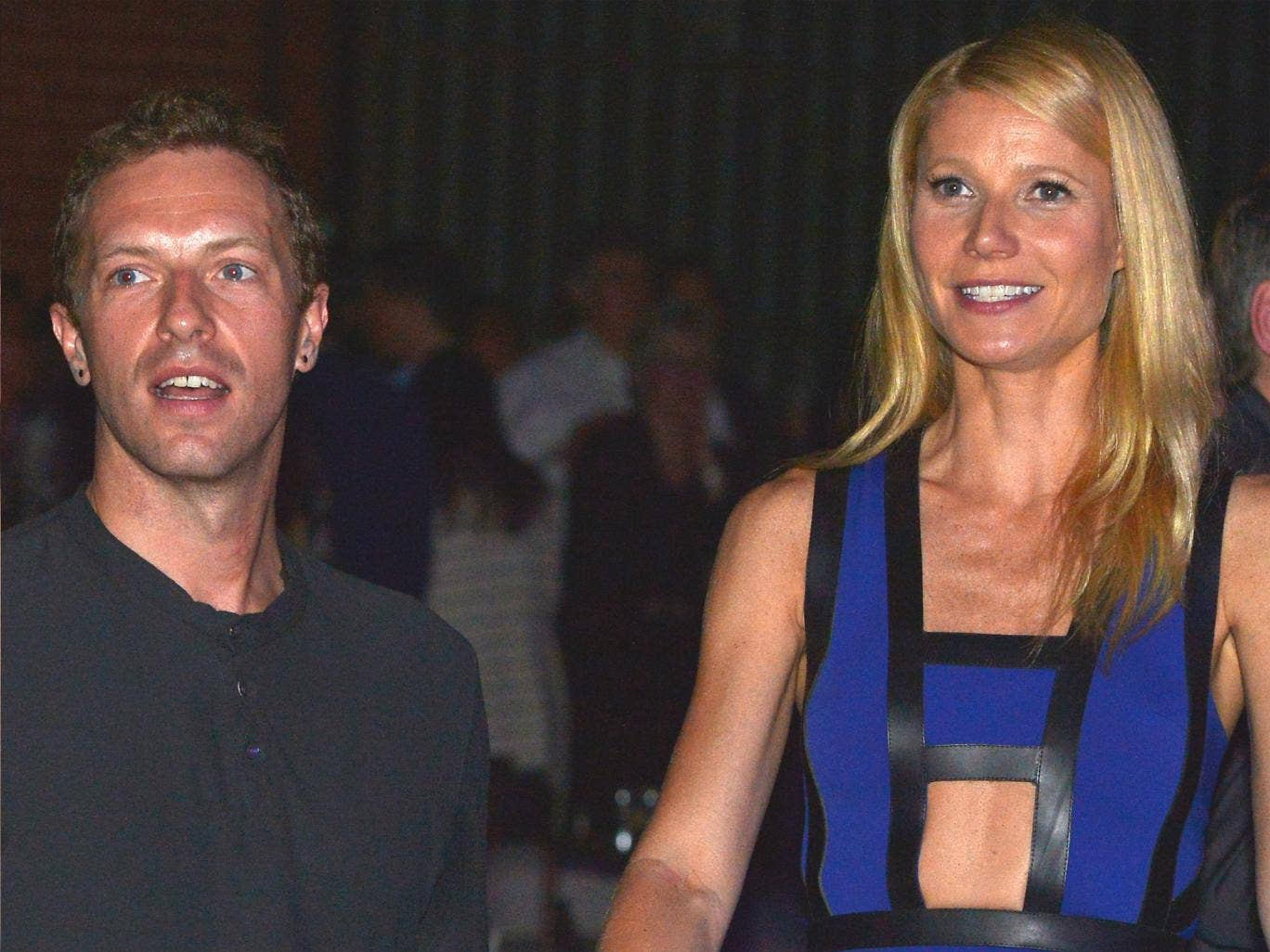 Actress Gwyneth Paltrow and Coldplay singer Chris Martin, pictured at a charity event in January