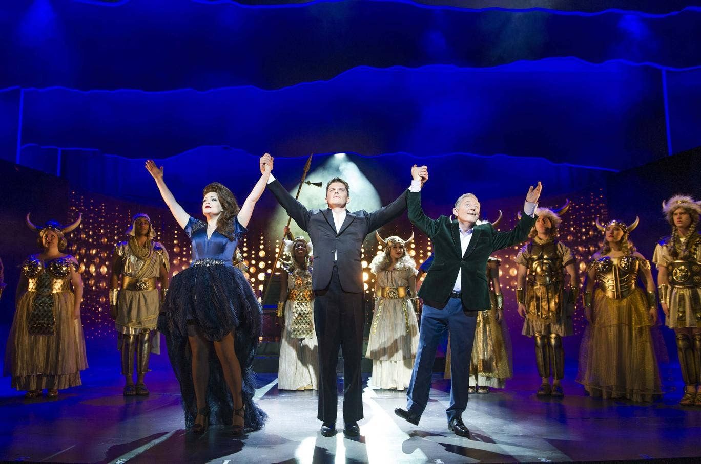 A scene from  X Factor musical 'I Can't Sing' at London Palladium