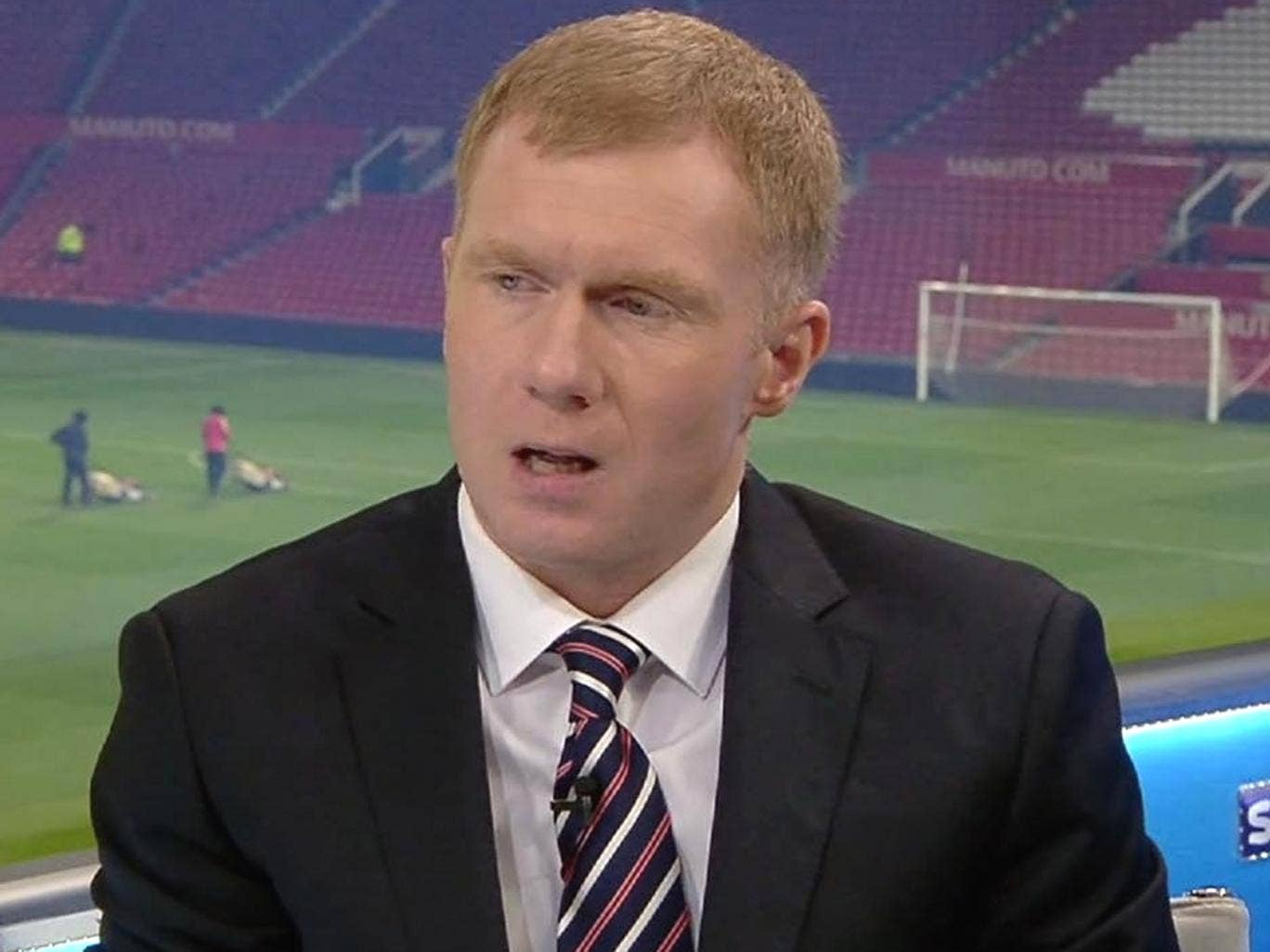 Paul Scholes expressing his criticisms after Tuesday night's game