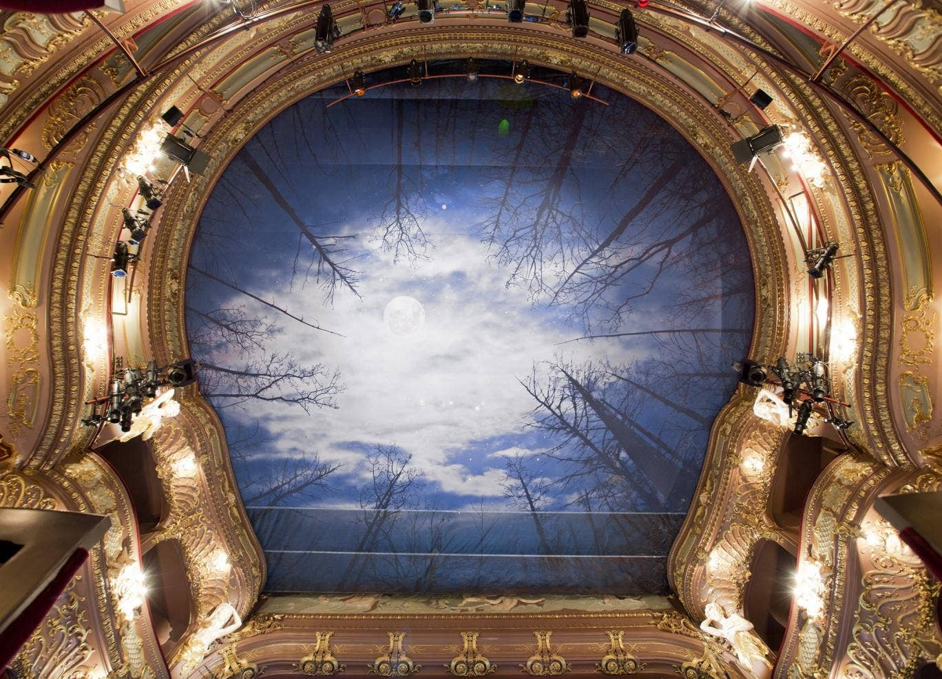 The new ceiling at the Apollo Theatre for the production of Let The Right One In