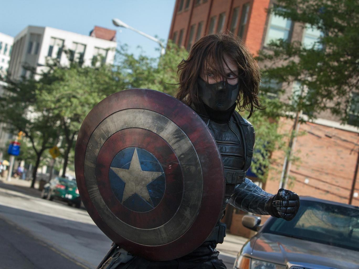 Shield of dreams: Sebastian Stan as the villainous Winter Soldier in the 'Captain America' sequel