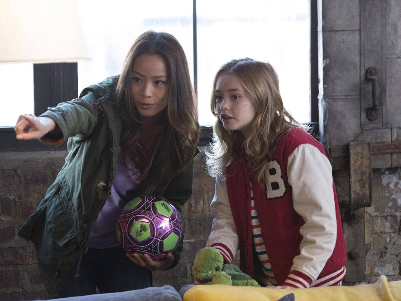 Having a ball: Jamie Chung and Johnny Sequoyah in 'Believe'