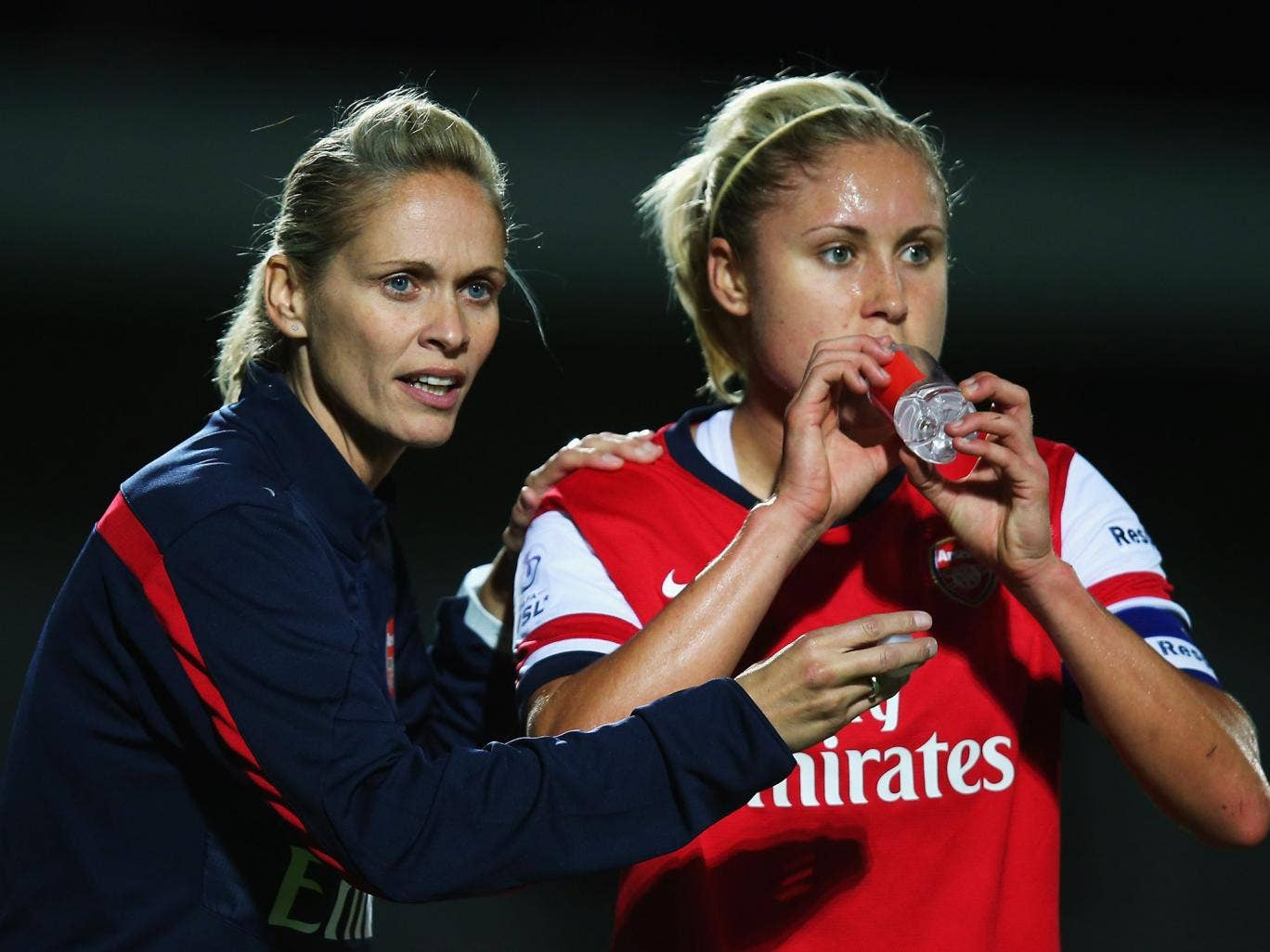 Arsenal Ladies Manager Shelley Kerr with former captain Steph Houghton