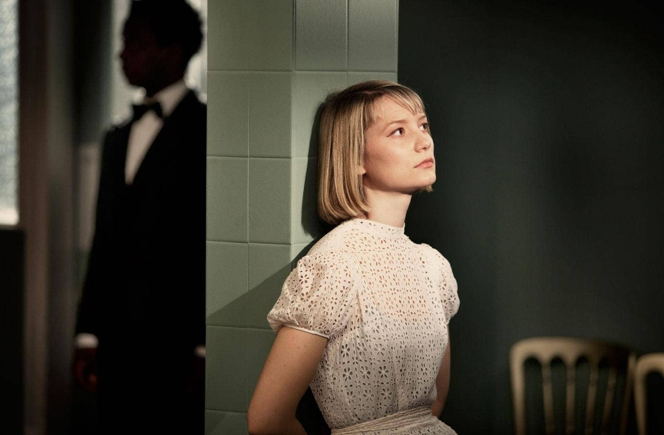 Wasikowska as the shifty Hannah in The Double