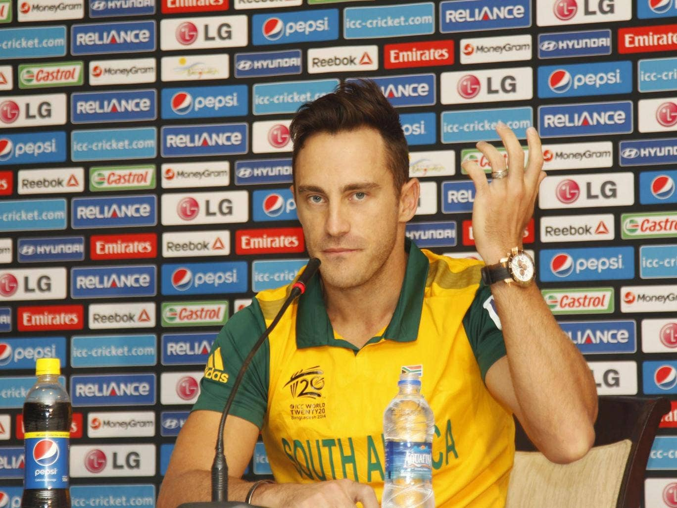 South Africa's captain Faf du Plessis has been banned due to his team's slow over rate