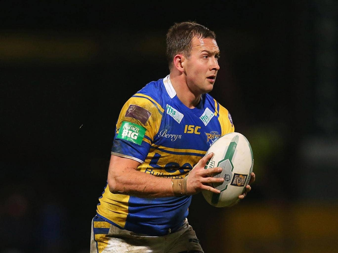 Danny McGuire's try gave Leeds the early advantage at Langtree Park but they were pegged back by St Helens