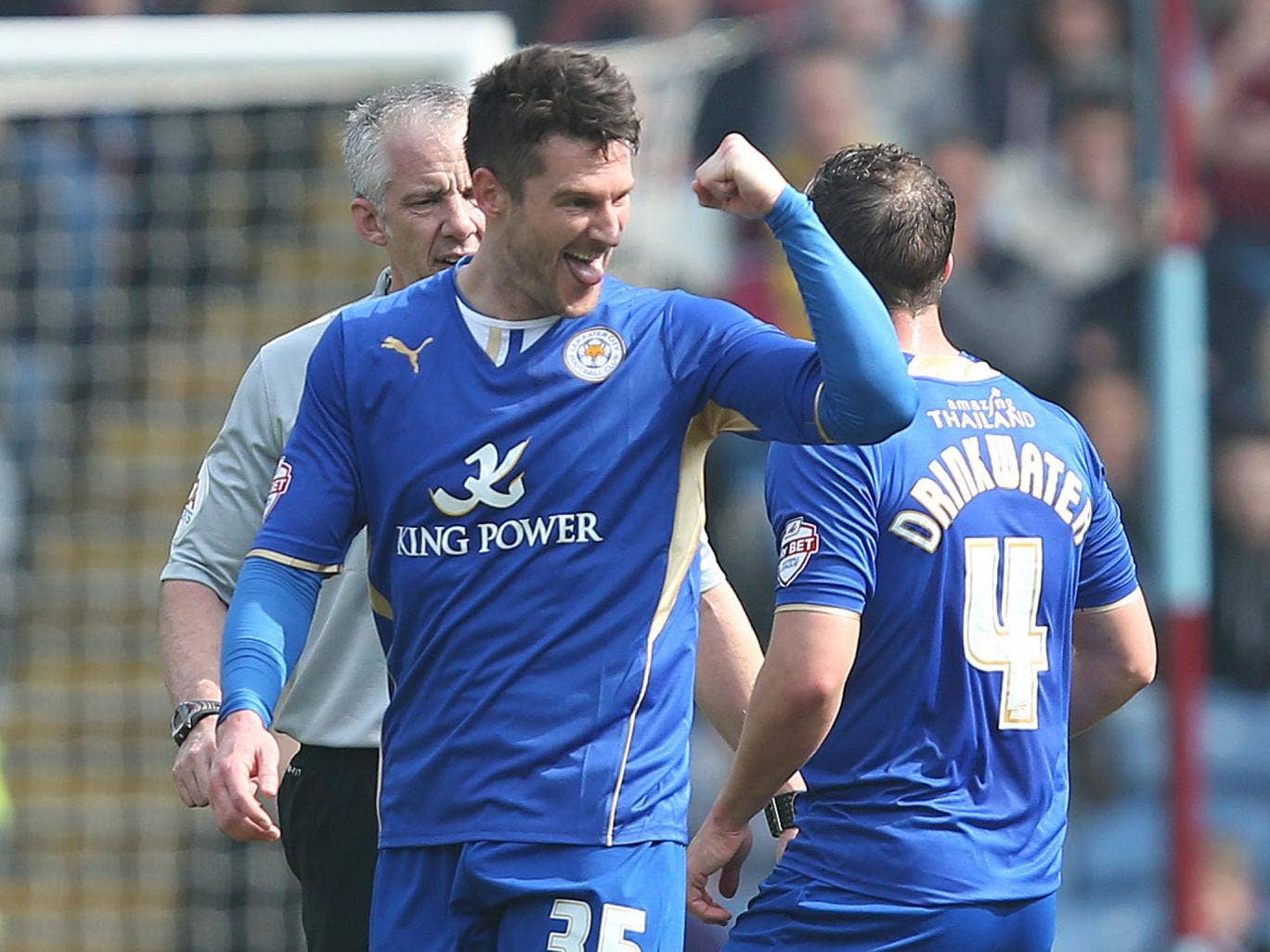 David Nugent scored Leicester's opener in the 2-0 win over Burnley