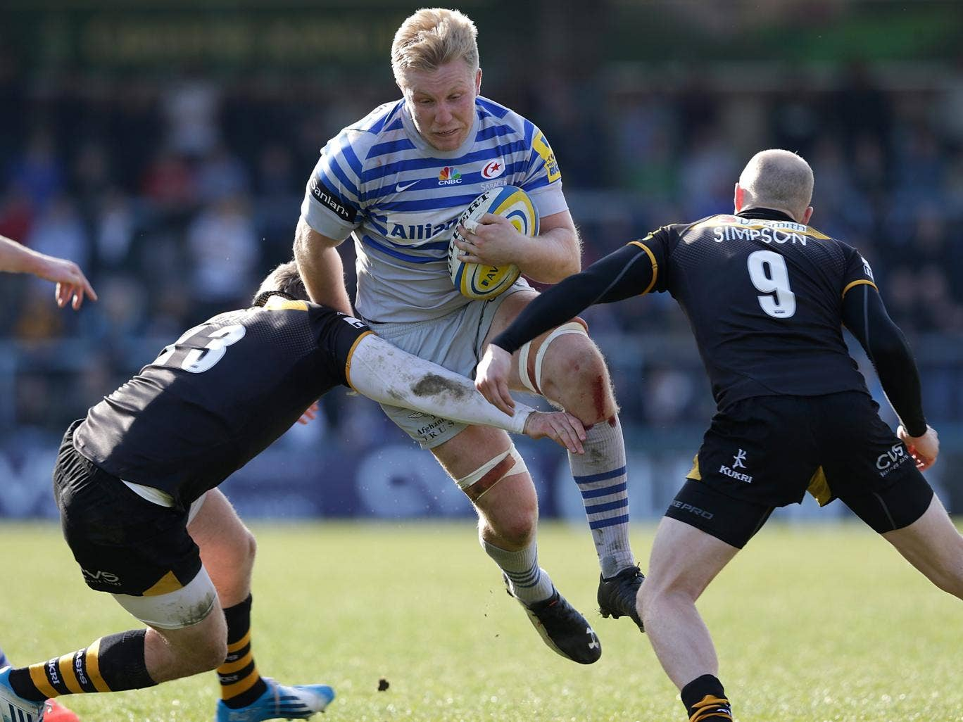 Jackson Wray scored one of Saracens' four tries against Wasps