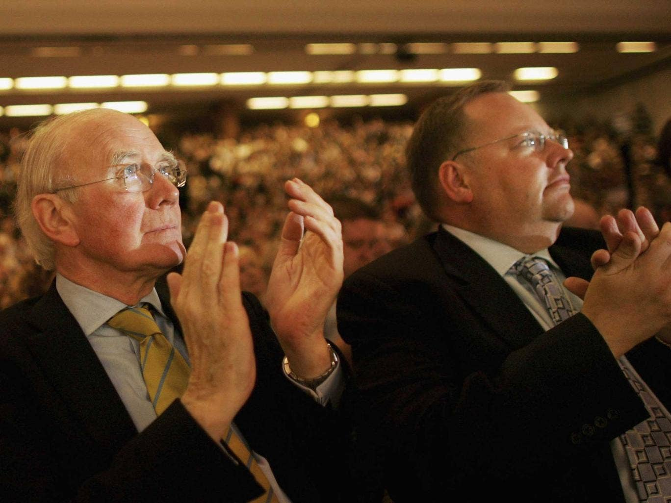 Lord Rennard (right) at the Liberal Democrat conference