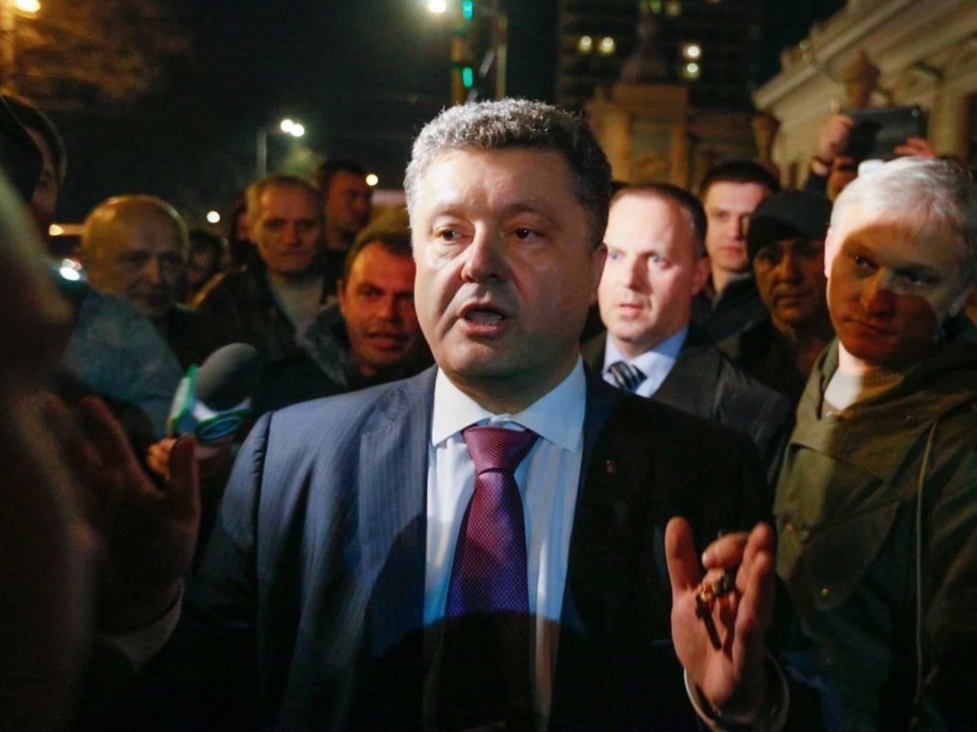 Choc bloc: Opinion polls suggest Petro Poroshenko will win the election