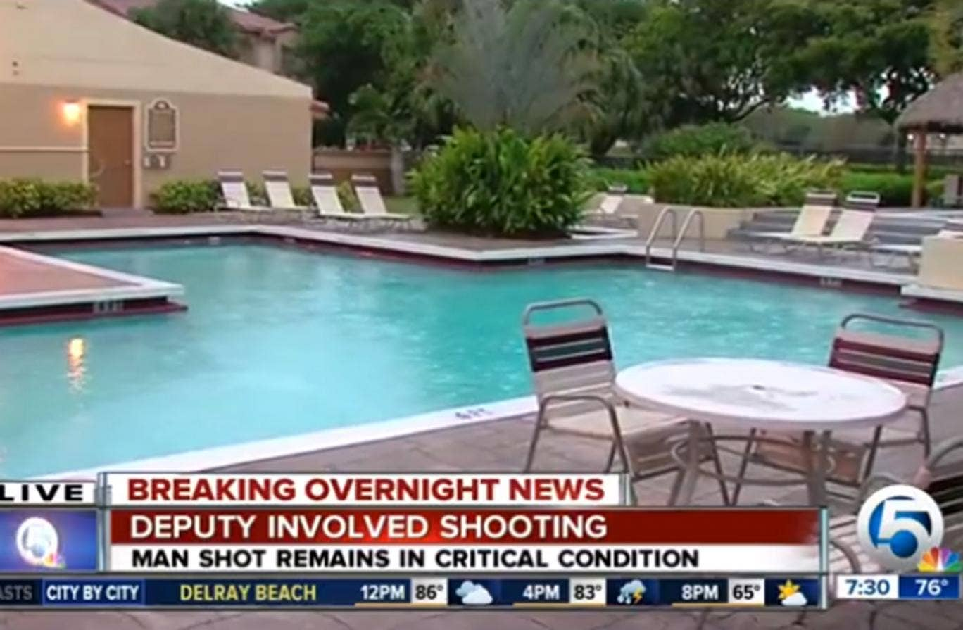 The incident happened in the private pool area of an apartment complex in Florida
