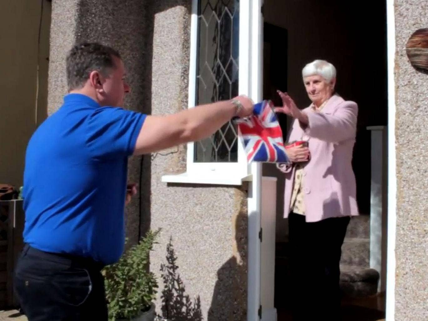 A scene from the BNP's YouTube video advising activists on food donations