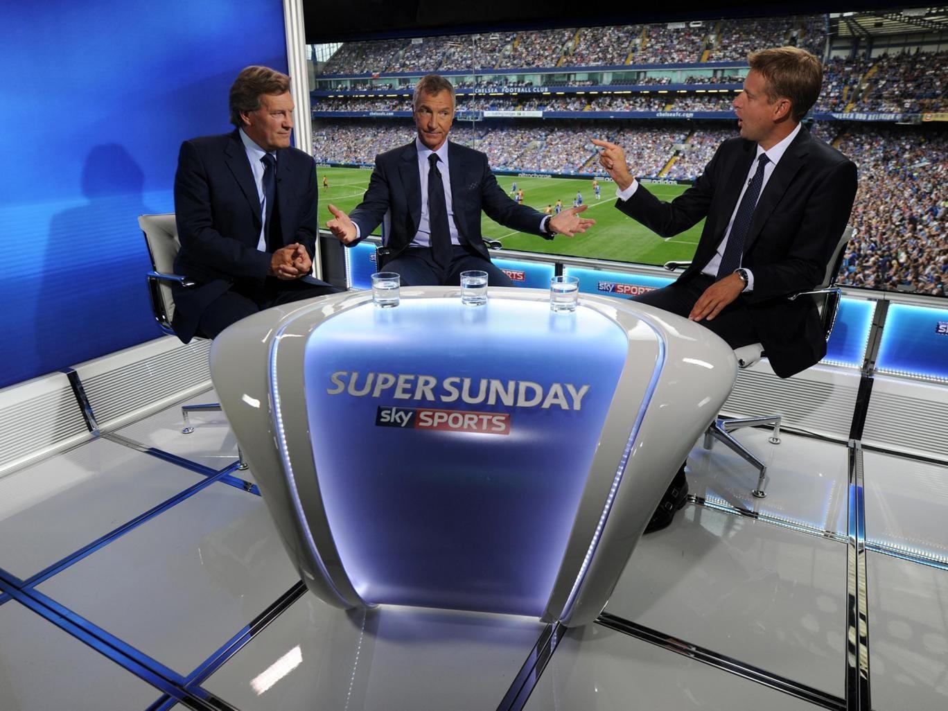 Glenn Hoddle (l), Graeme Souness (c) and Ed Chamberlain (r)