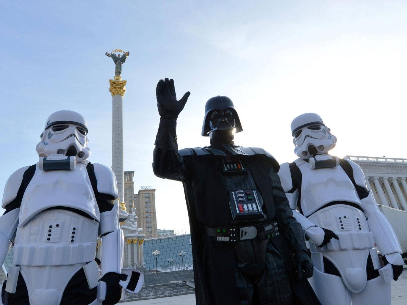 An individual dressed as Darth Vader filed documents to the Ukrainian Central Elections Commission (CEC) be registered as a presidential candidate