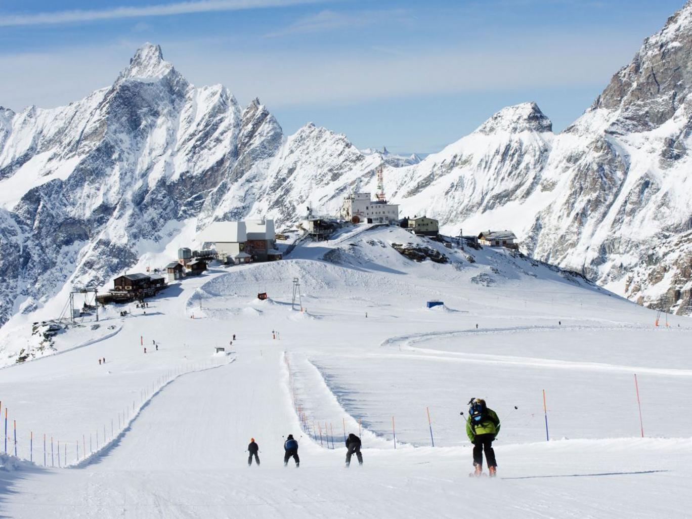 Crystal amaze: Cervinia's upper slopes received 20cm of snow last week