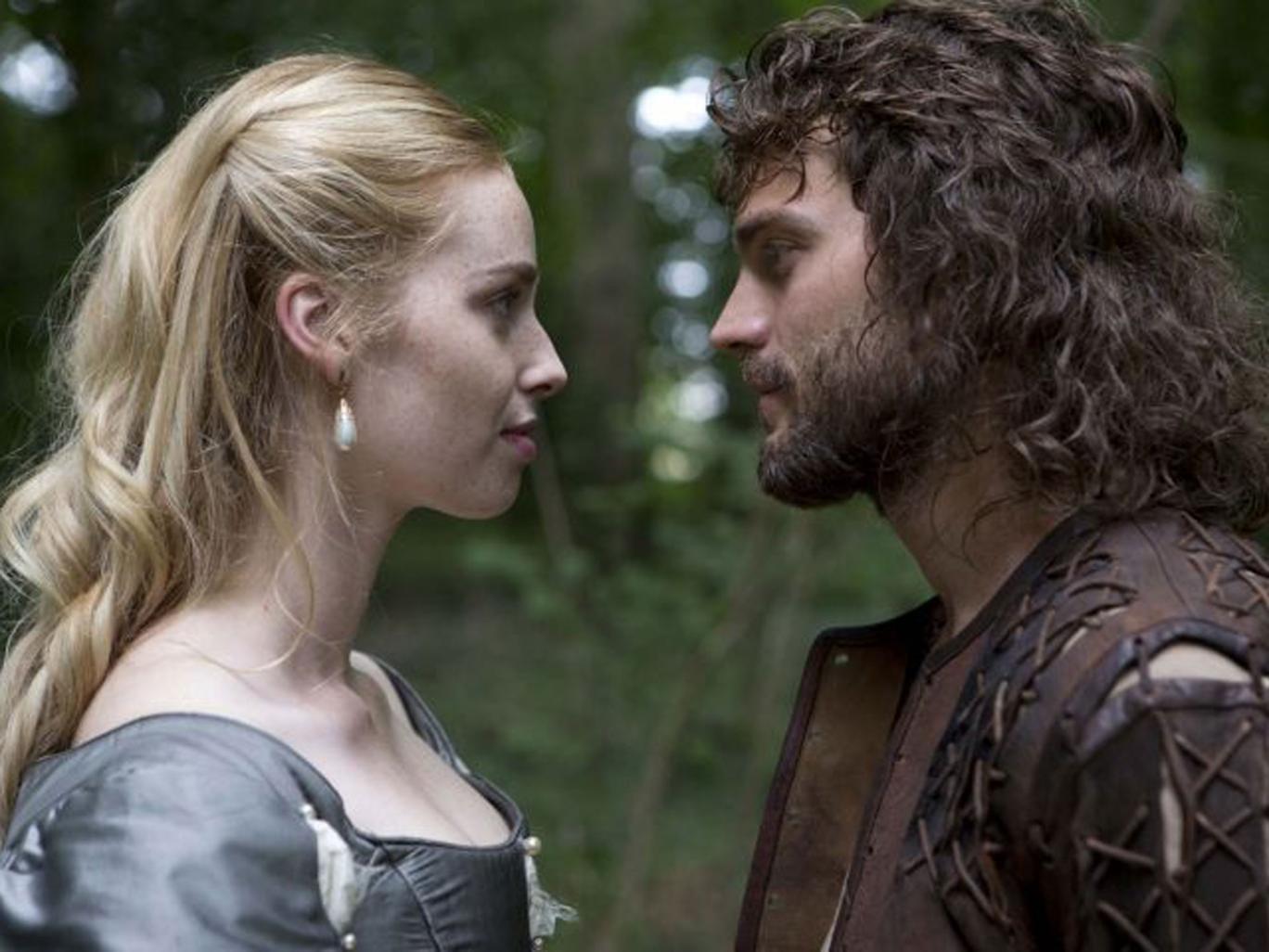 Puritan intentions: Freya Mavor and Jamie Dornan in 'New Worlds'