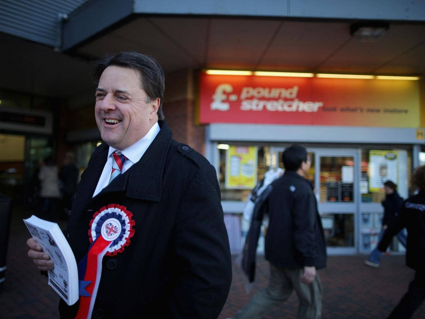 "Nick Griffin tweeted yesterday: ""For the avoidance of doubt, our BNP food banks are for indigenous Brits only. 'Minorities' all have their own (taxpayer-funded) charities."""