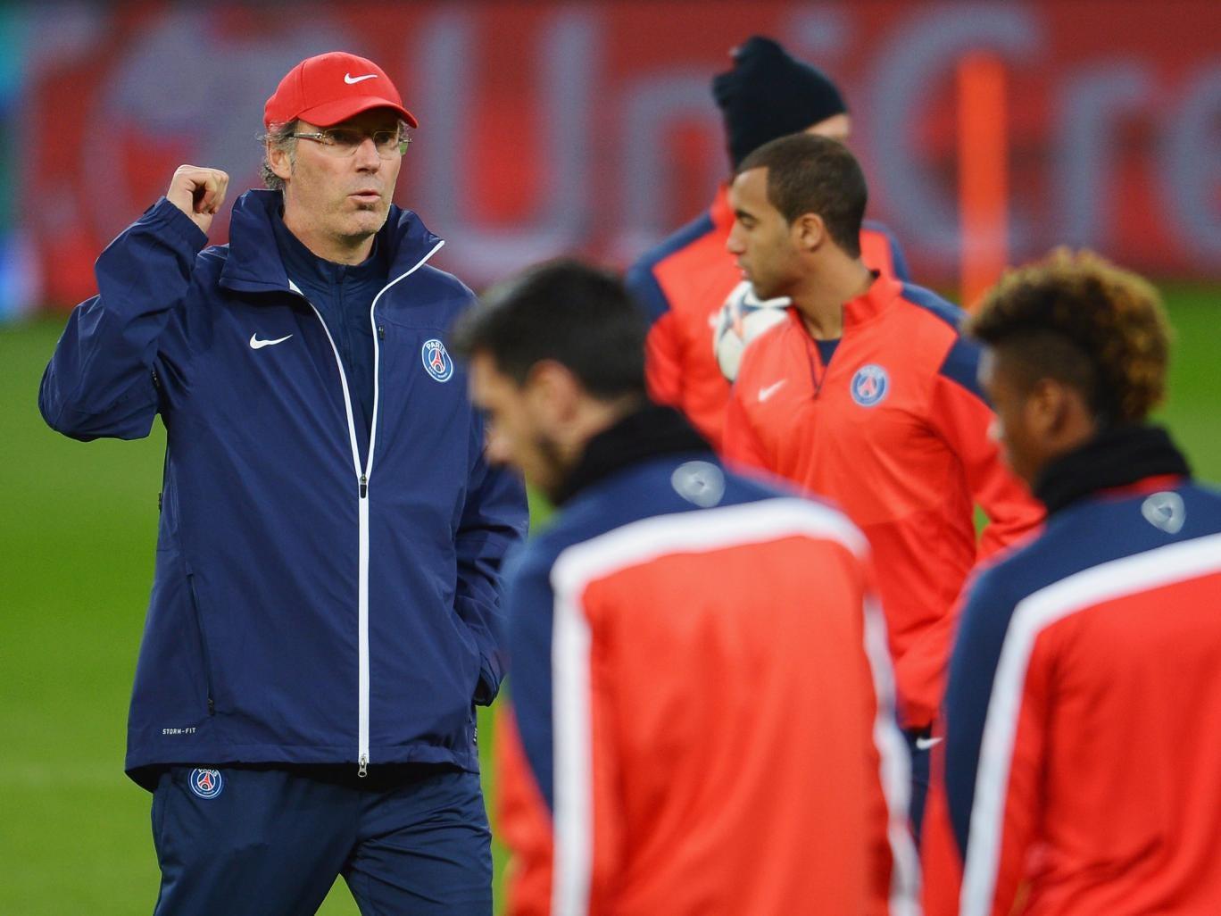 PSG manager Laurent Blanc