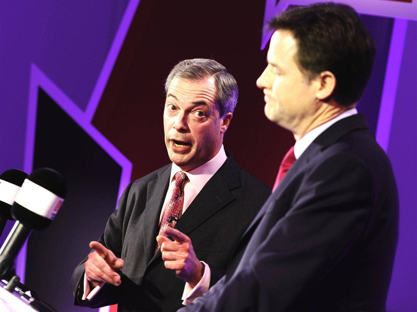 Farage and Clegg will go head-to-head again on Wednesday