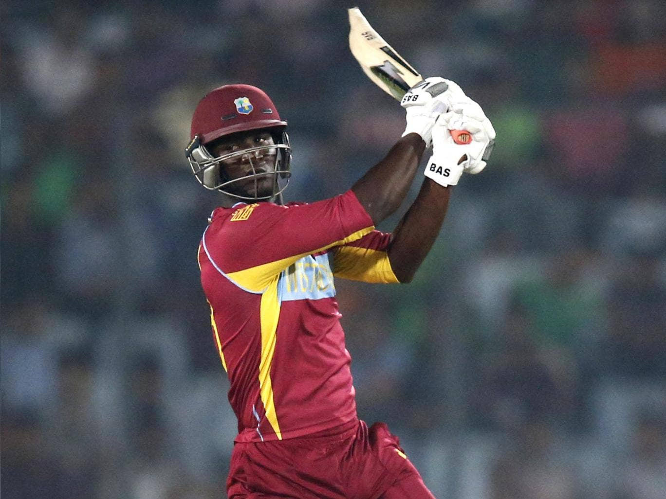 Darren Sammy hit an unbeaten 42 off 20 balls against Pakistan