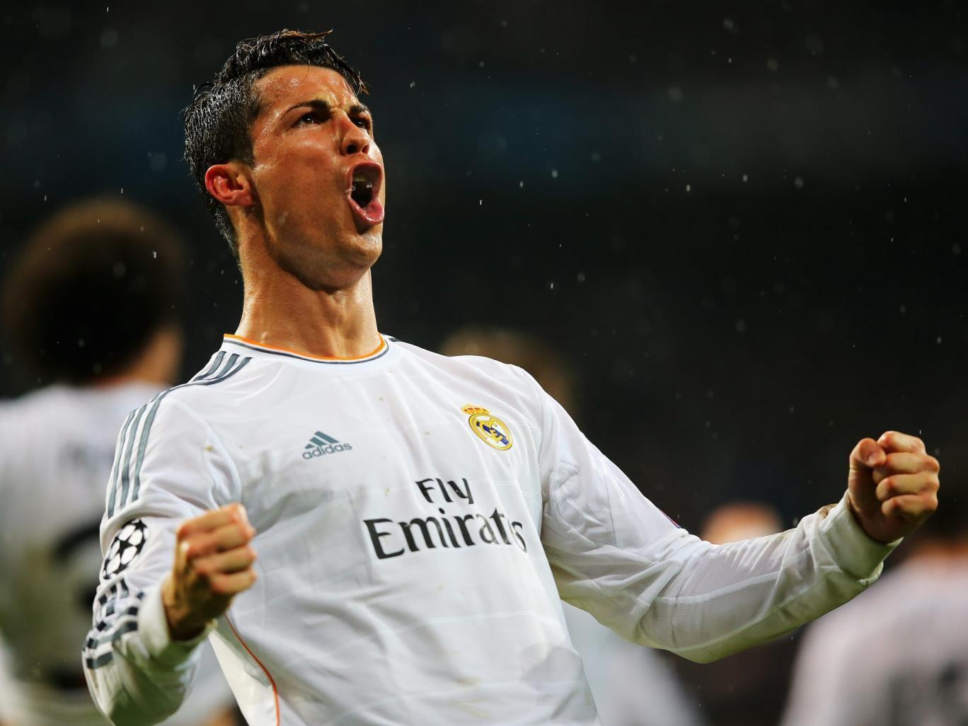 Cristiano Ronaldo celebrates scoring in Real Madrid's 3-0 win over Borussia Dortmund