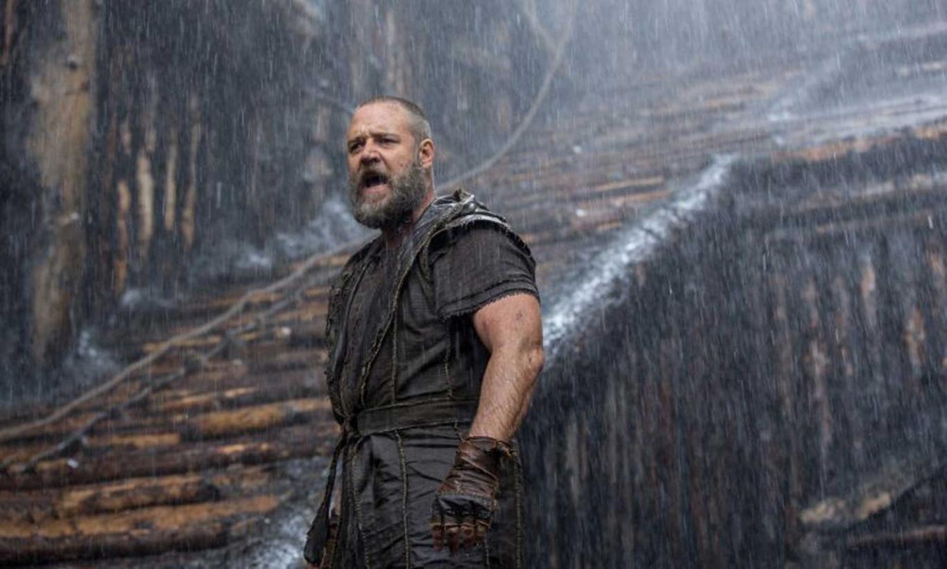 Rain over me: Russell Crowe stars in Darren Aronofsky's epic 'Noah'