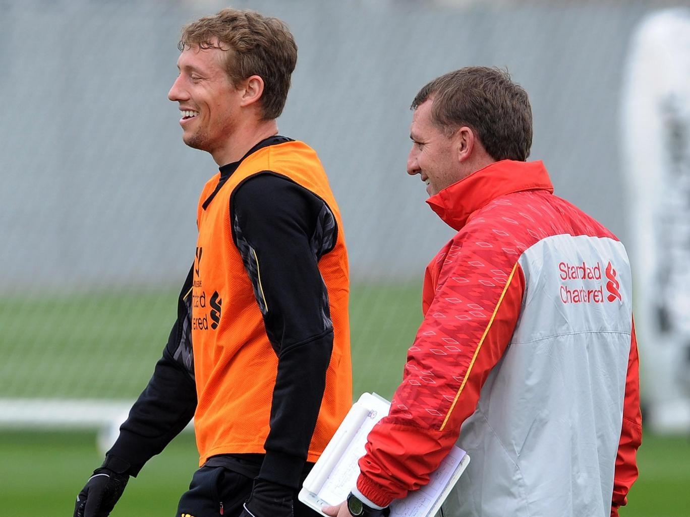 Brendan Rodgers has praised midfielder Lucas Leiva ahead of his return to fitness