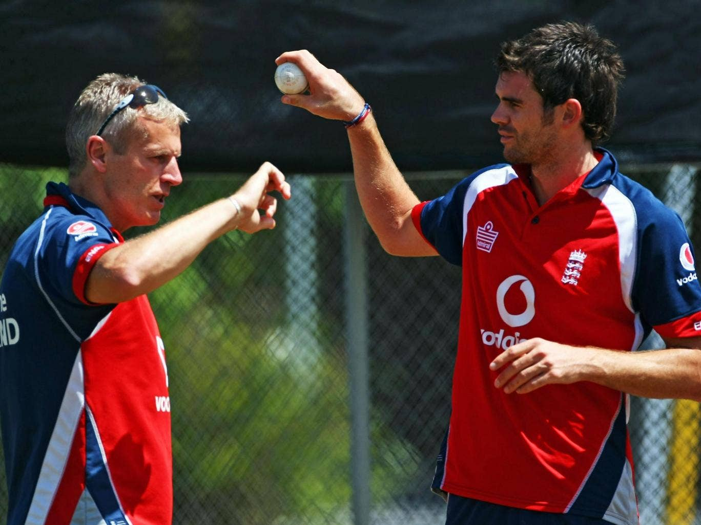 Peter Moores is being considered for the England job, and has been backed by bowler James Anderson