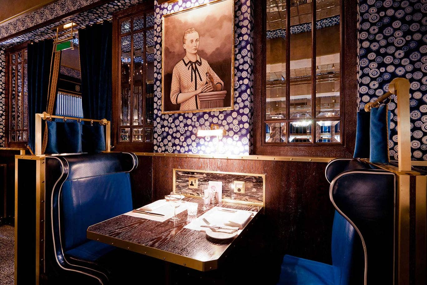 Bob Bob Ricard's décor resembles something out of The Great Gatsby