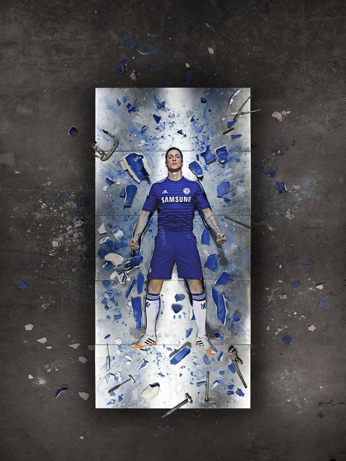Fernando Torres in the new Chelsea kit