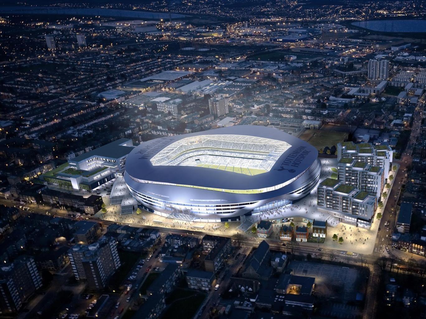 An artist's impression of Tottenham's new ground