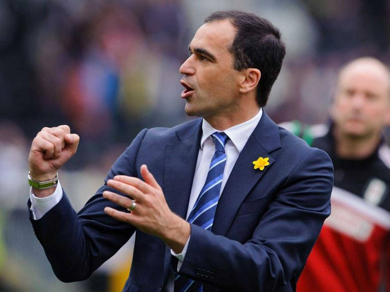 Hands on: Roberto Martinez 'has a self-belief that you buy into'
