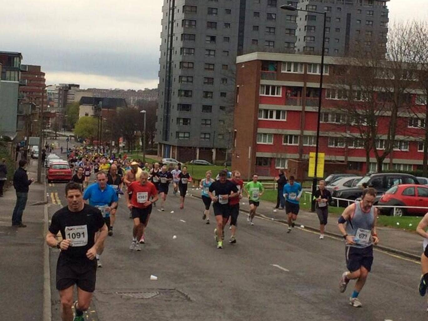 Determined runners pressed on despite the cancellation