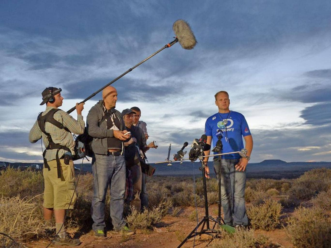 Nik Wallenda speaks after crossing the Grand Canyon on a tightrope live on Discovery