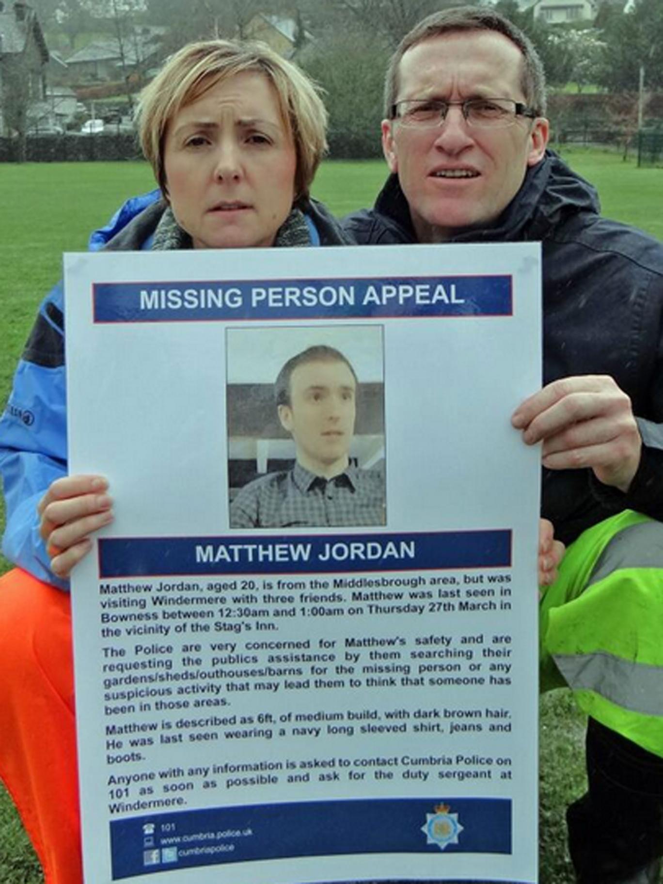 Matthew Jordan has been missing for over a week