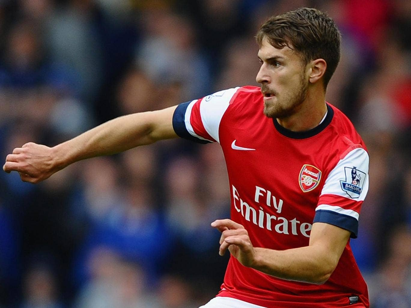 Aaron Ramsey made his return after 14 weeks out in the 3-0 defeat to Everton