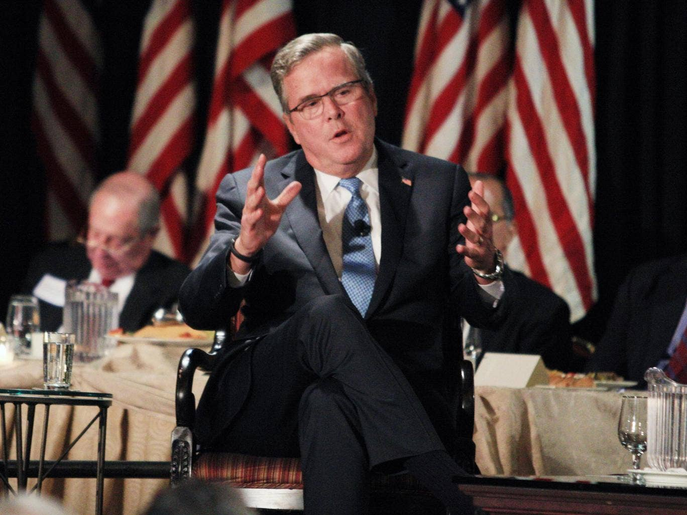 Jeb Bush says he spends every day trying not to think about whether to run for the presidency