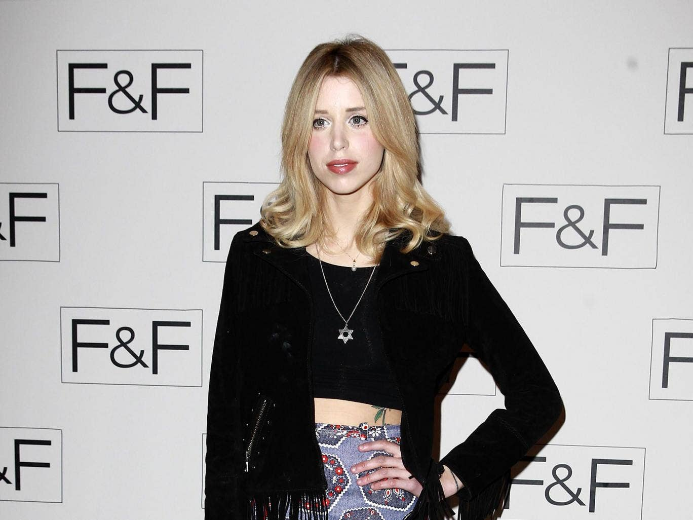Peaches Geldof attends the F&F aw14 Fashion show at Somerset House in 2014