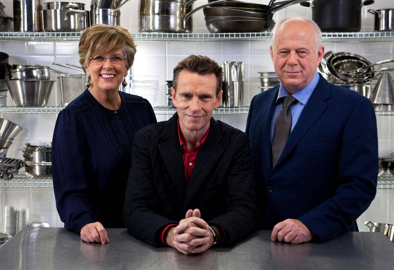 Great British Menu judges Prue Leith, Oliver Peyton and Matthew Fort