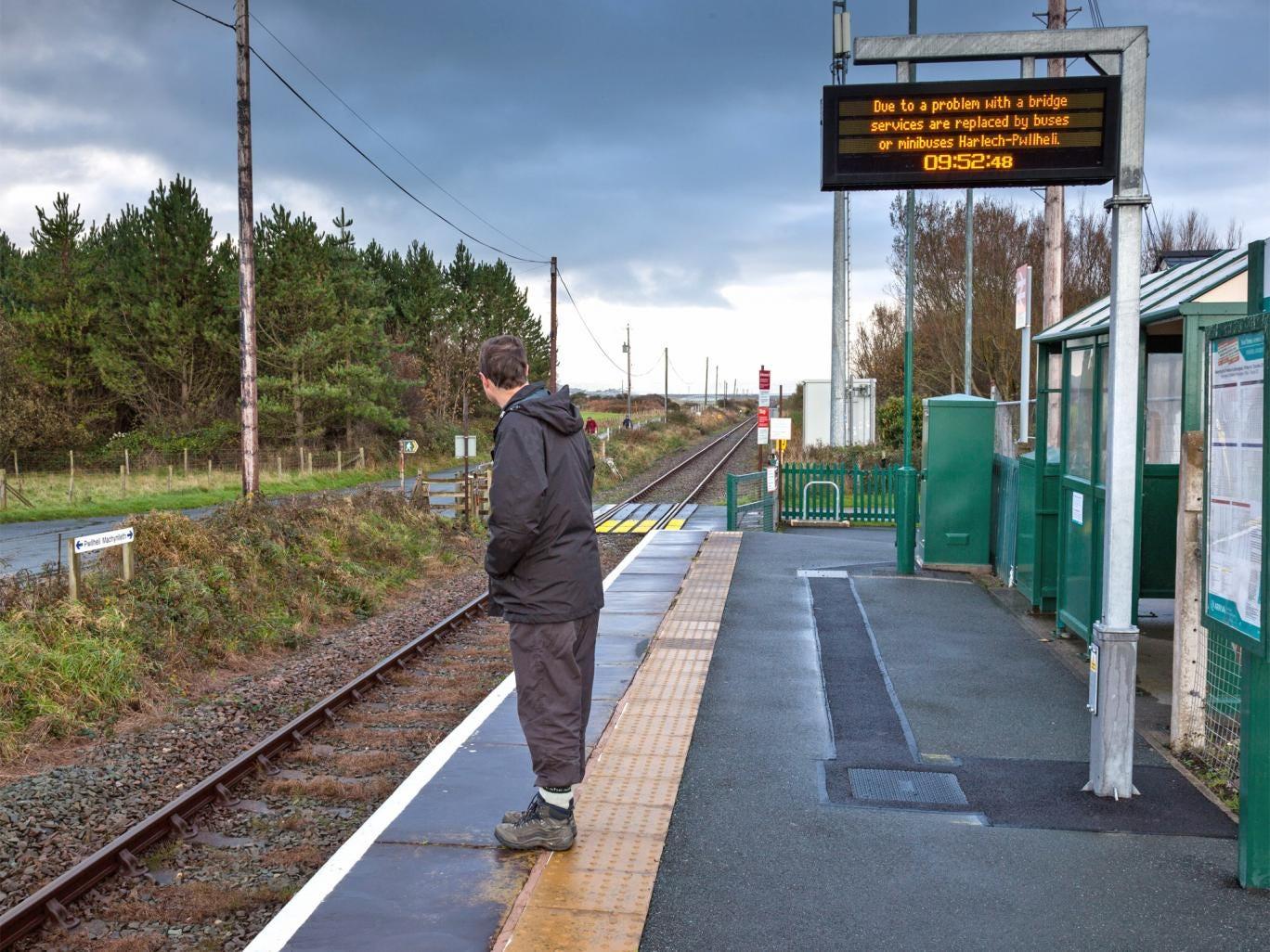 Tonfanau station in Gwynedd, Wales