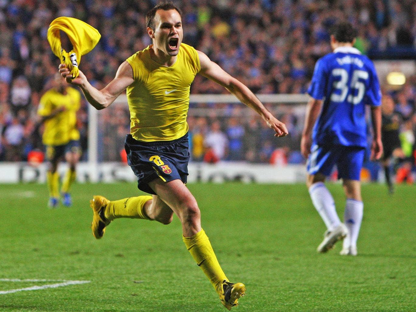 Andres Iniesta's last-minute goal against Chelsea in 2009 sent Barcelona through to the final