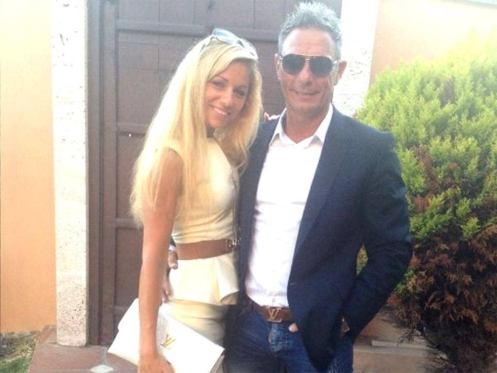 Mayka Marica Kukucova with Andrew Bush in a picture from the model's Facebook page
