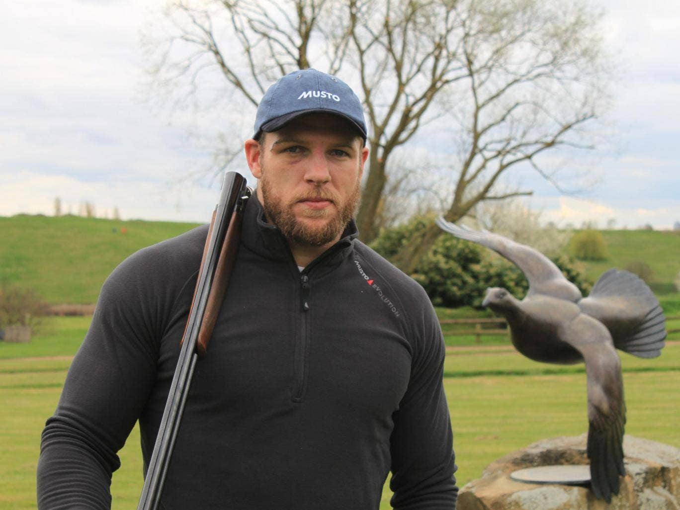 James Haskell is wearing an Evolution Clay Shooting Vest