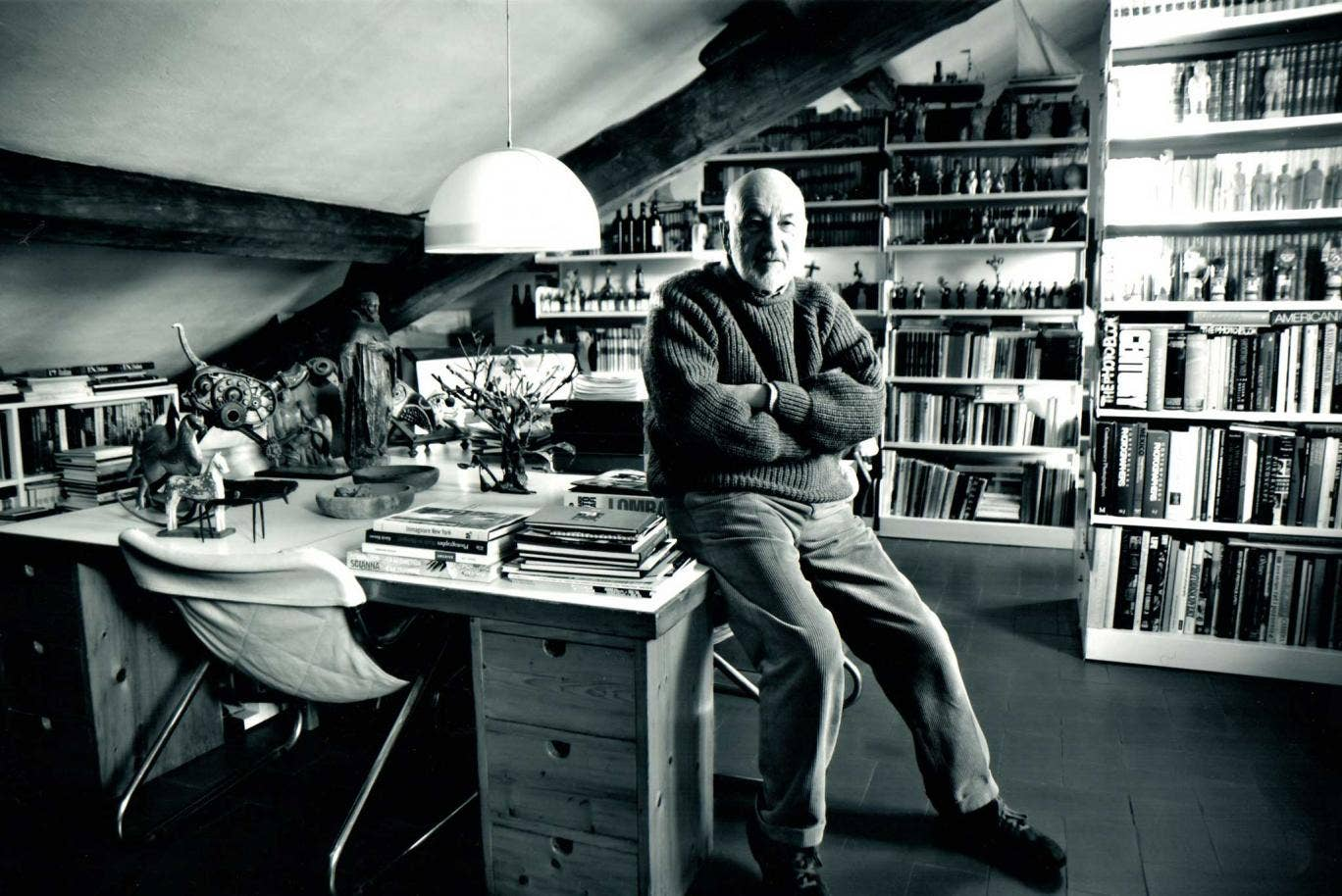 Shelf life: Gianni Berengo Gardin in his Milan studio